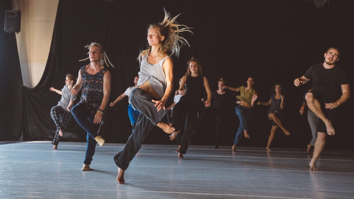 Jenna is dancing